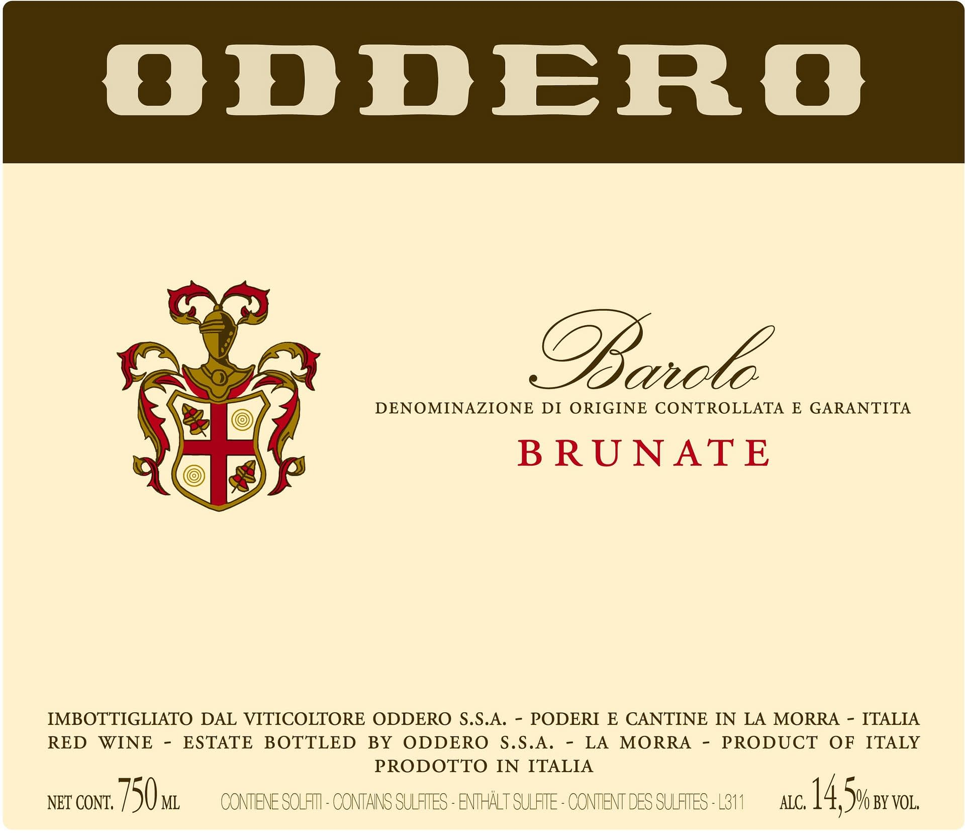 Oddero Barolo Brunate 2010