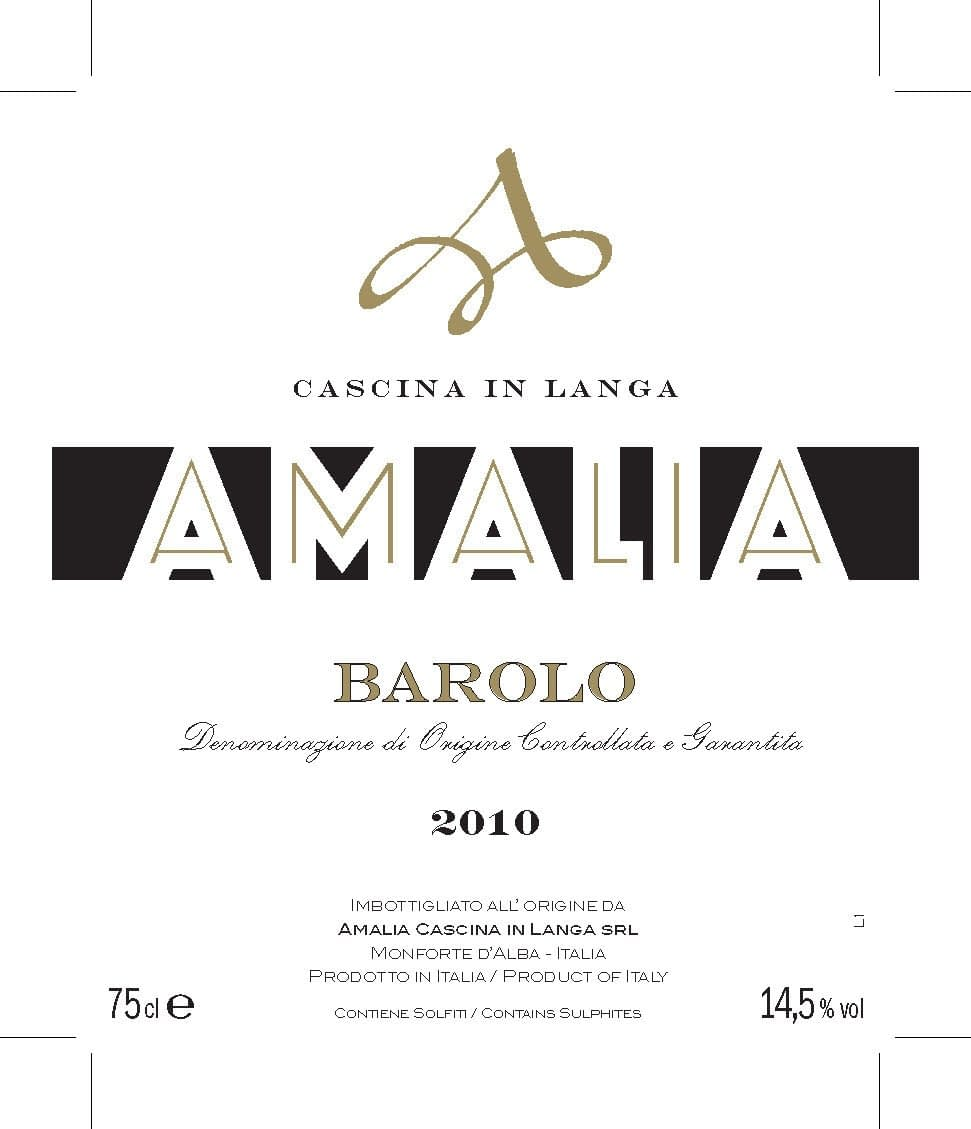 Amalia Barolo from 2010 - only 3 bottles left!