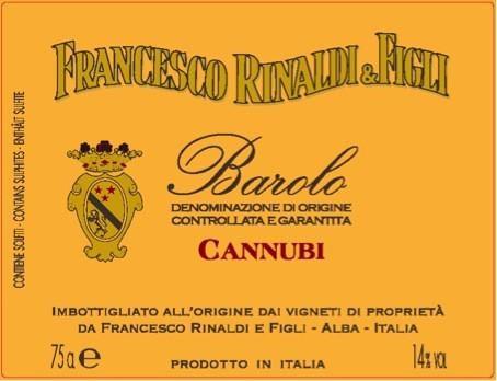 Francesco Rinaldi Barolo Cannubi Magnum 2011