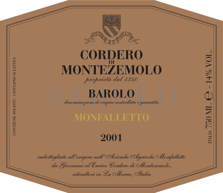 Cordero Barolo Monfalletto Jeroboam 2016