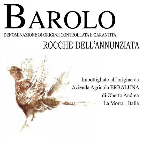 Erbaluna Barolo Rocche dell´Annunziata 2012