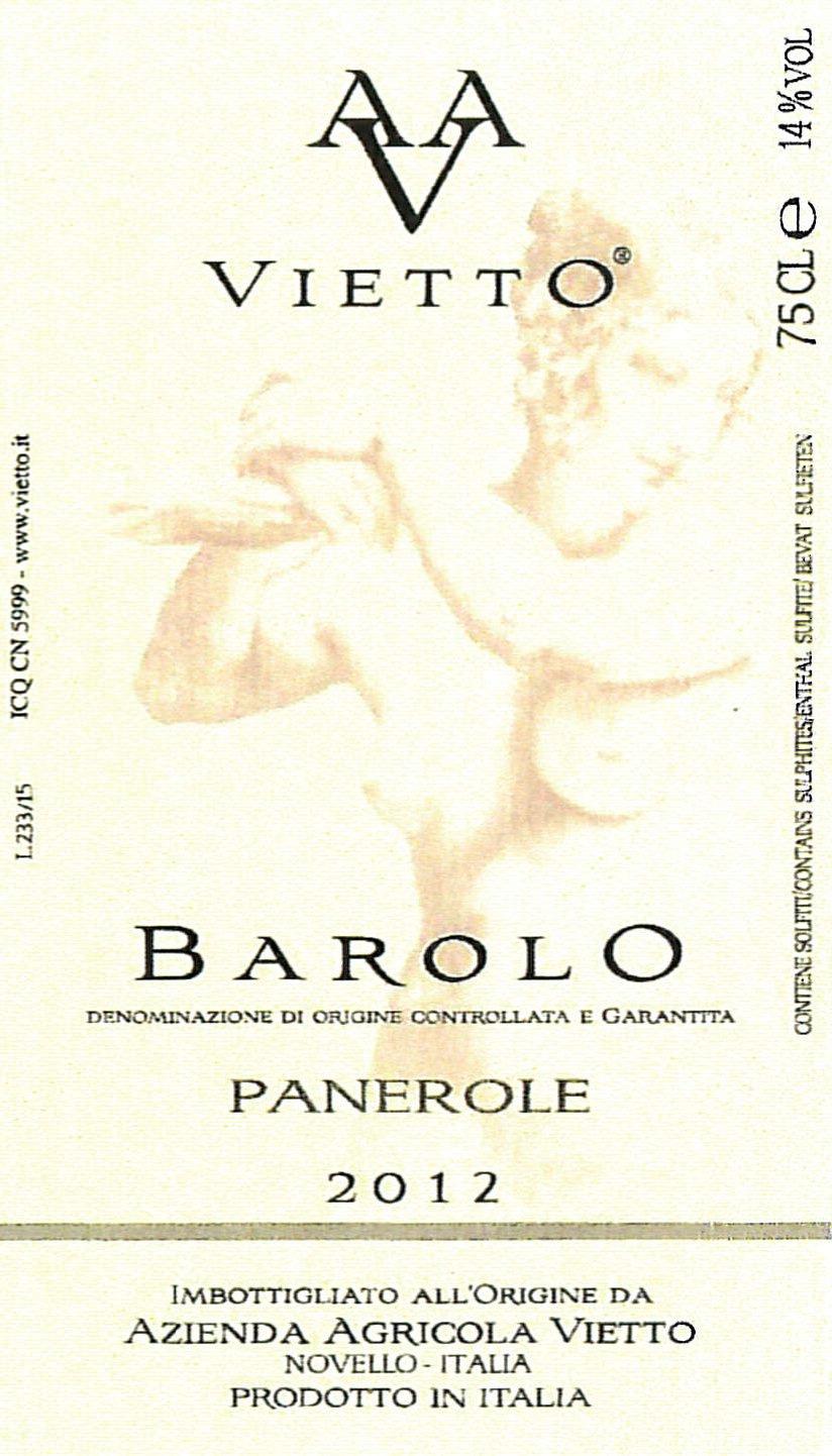 Vietto Barolo Panerole 2012
