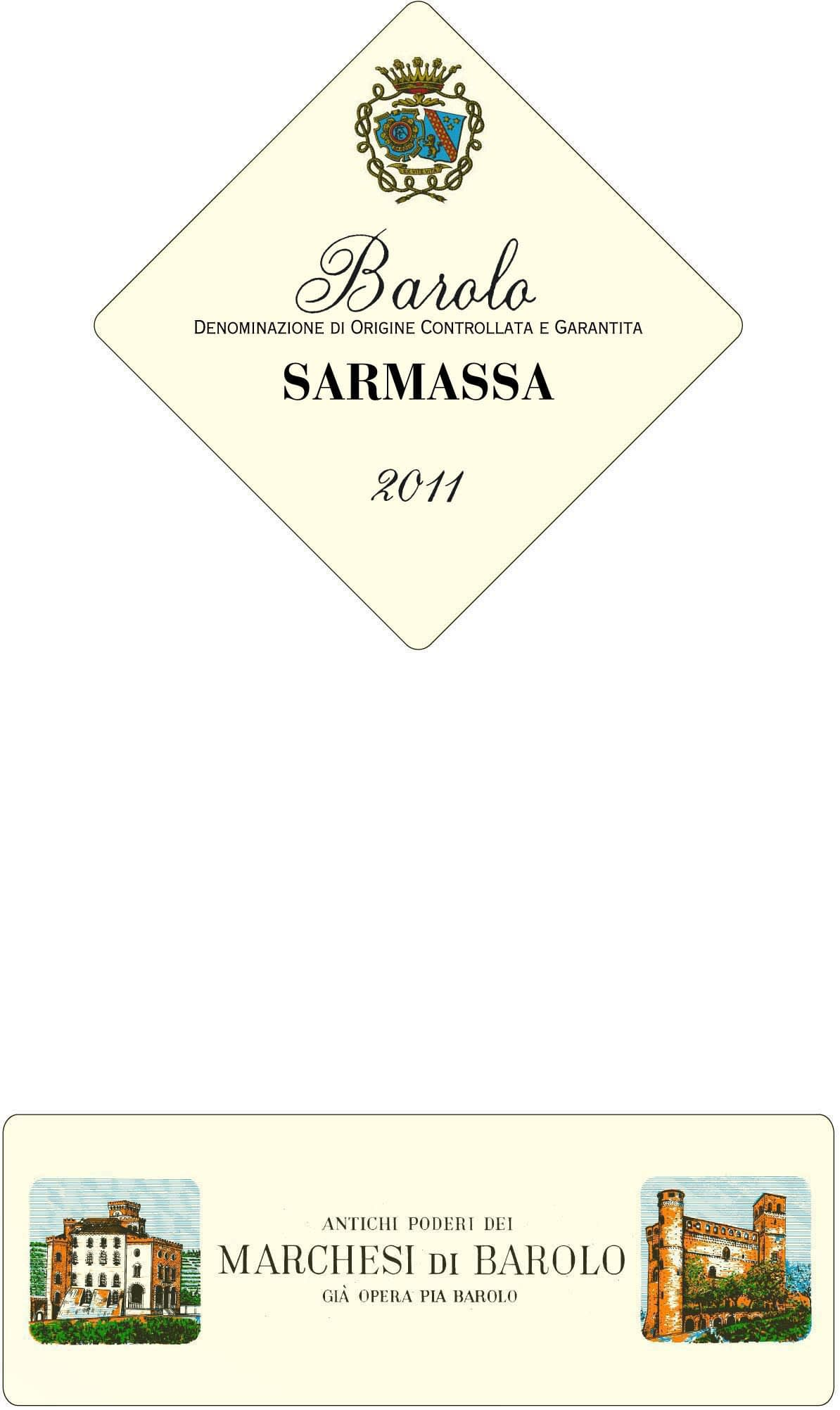 Marchesi di Barolo Sarmassa 2011 - only 4 bottles left!