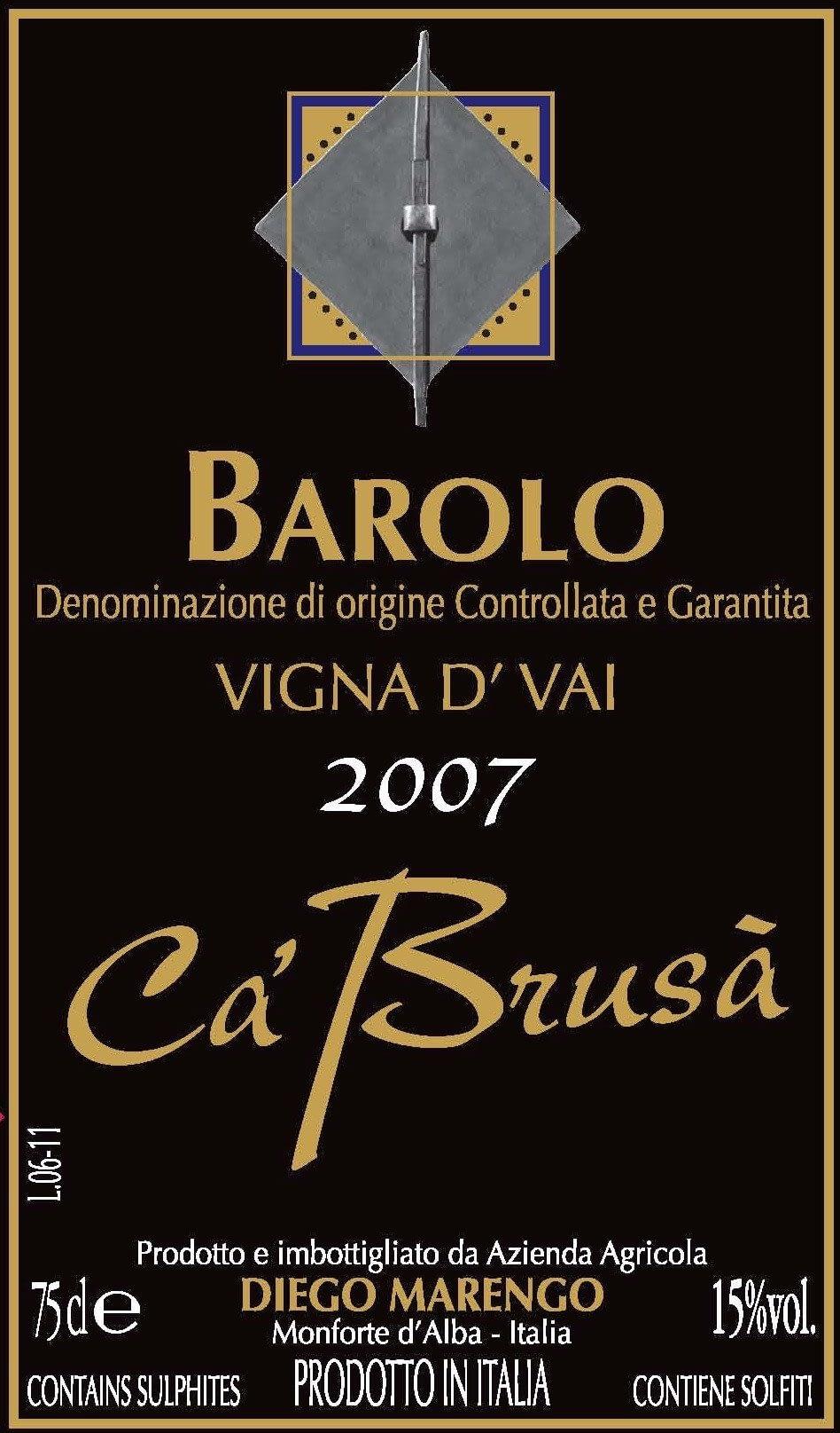 Cá Brusá Barolo Vigna d´Vai 2008