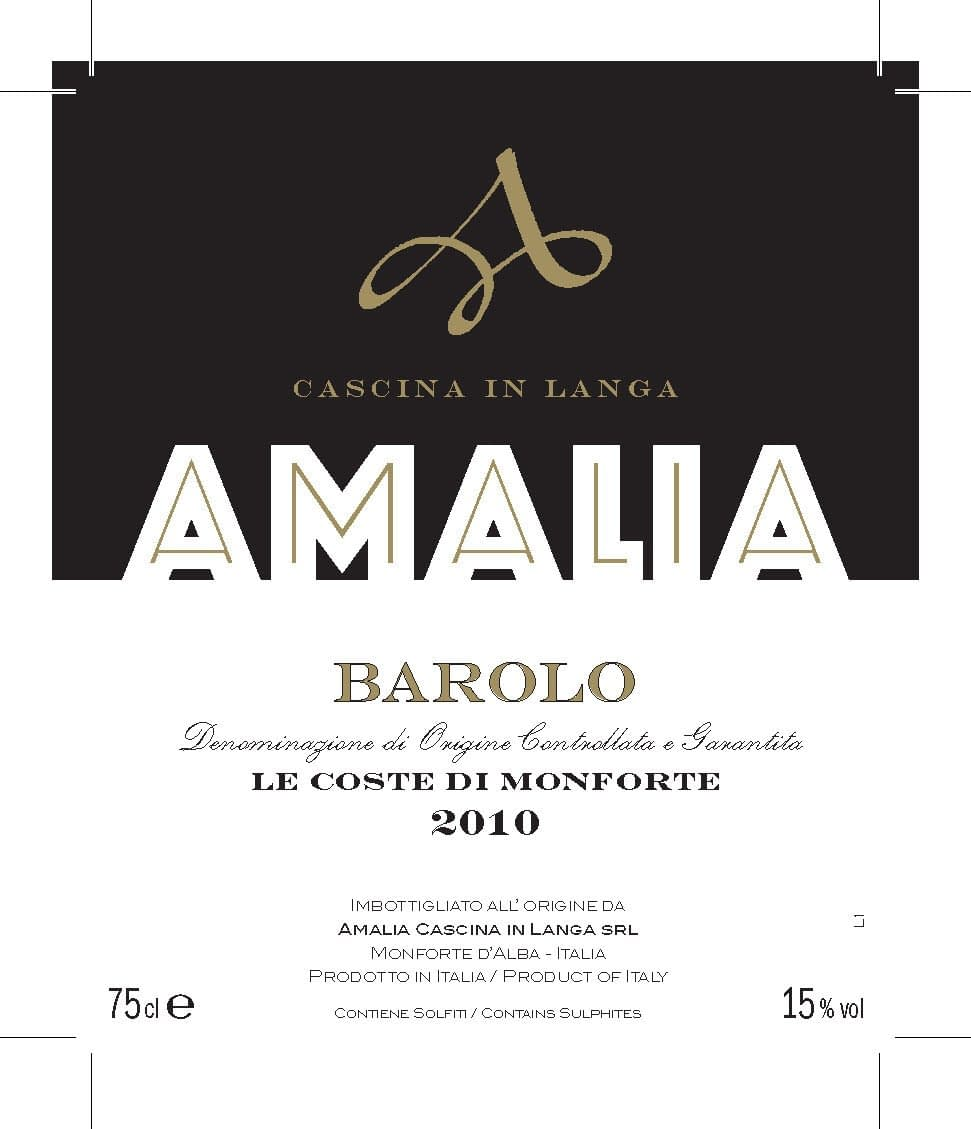 Amalia Barolo Le Coste di Monforte for 2012 -1 left!