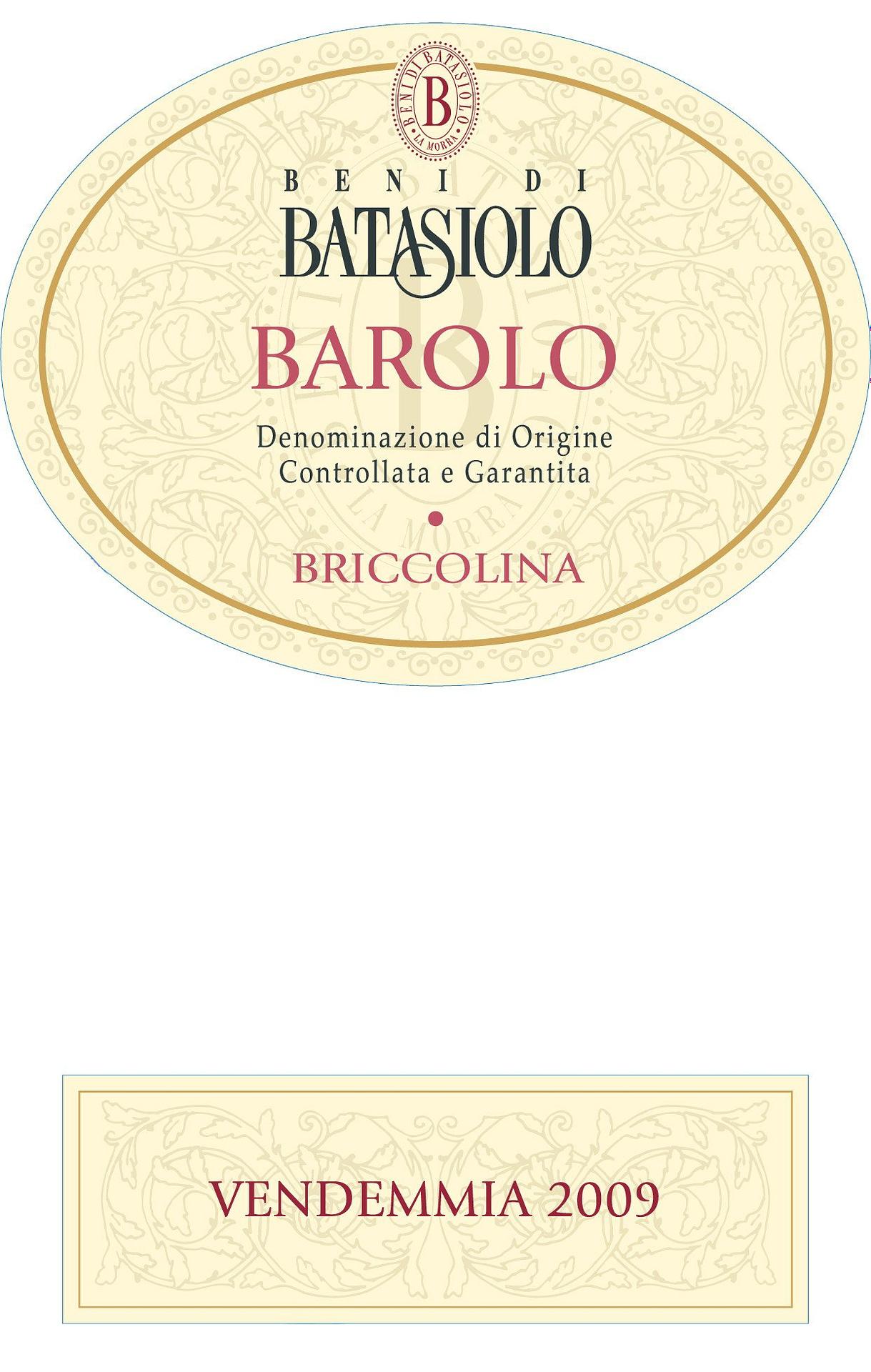 Batasiolo Barolo Briccolina Magnum 2009