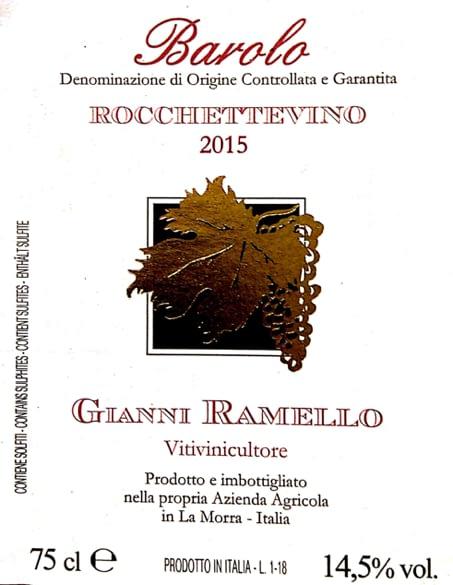Ramello Barolo Rocchettevino 2015