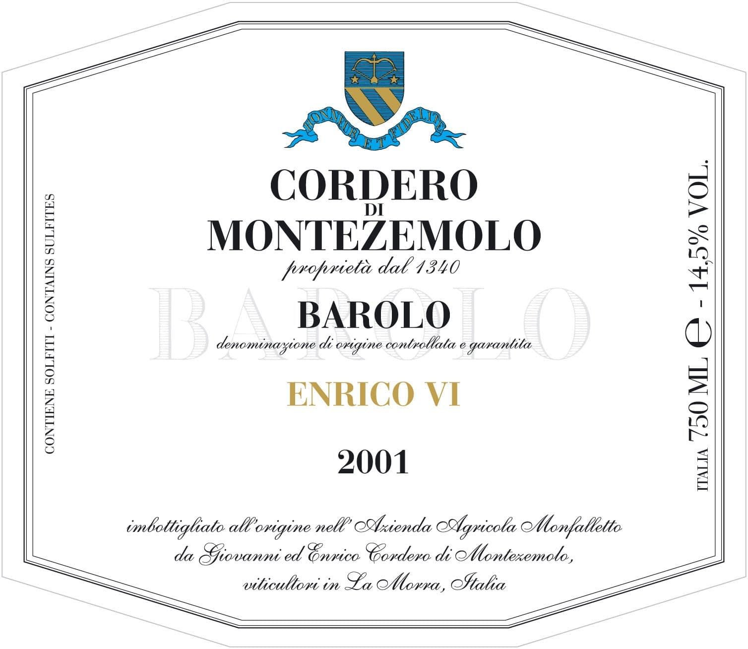 Cordero Barolo Enrico VI Magnum 2016