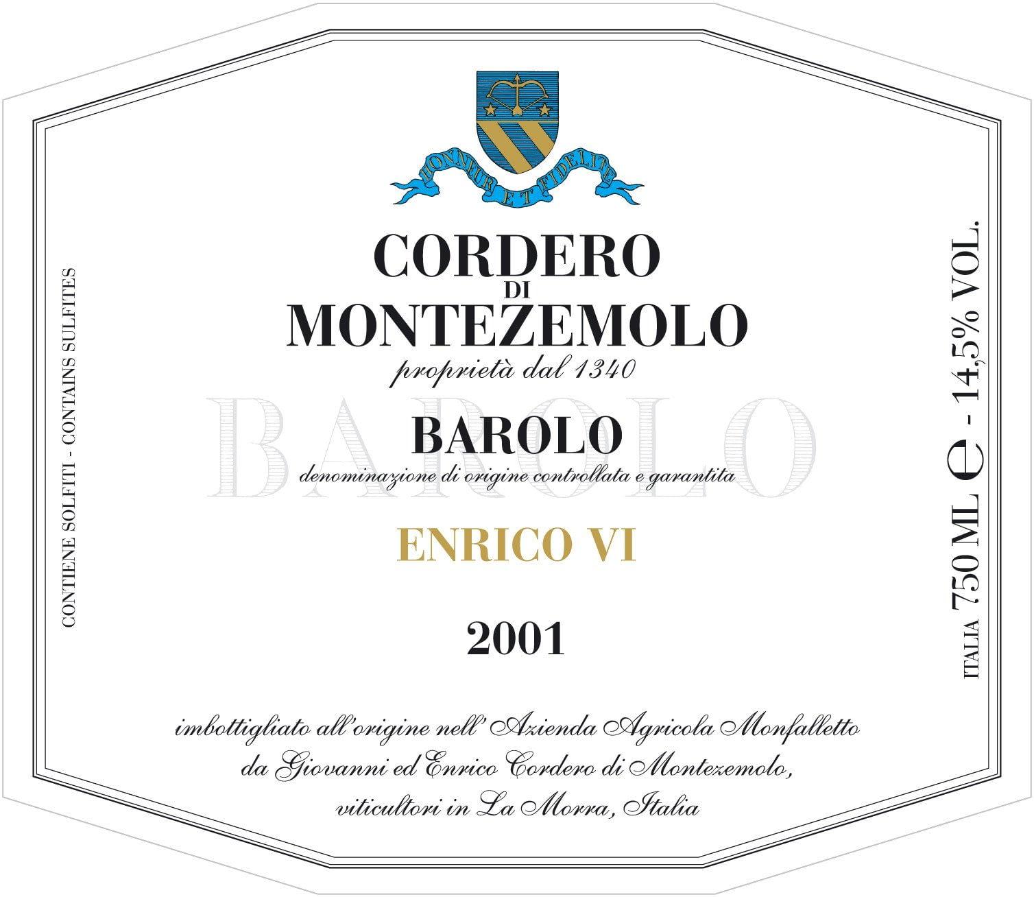Cordero Barolo Enrico VI Jeroboam 2016