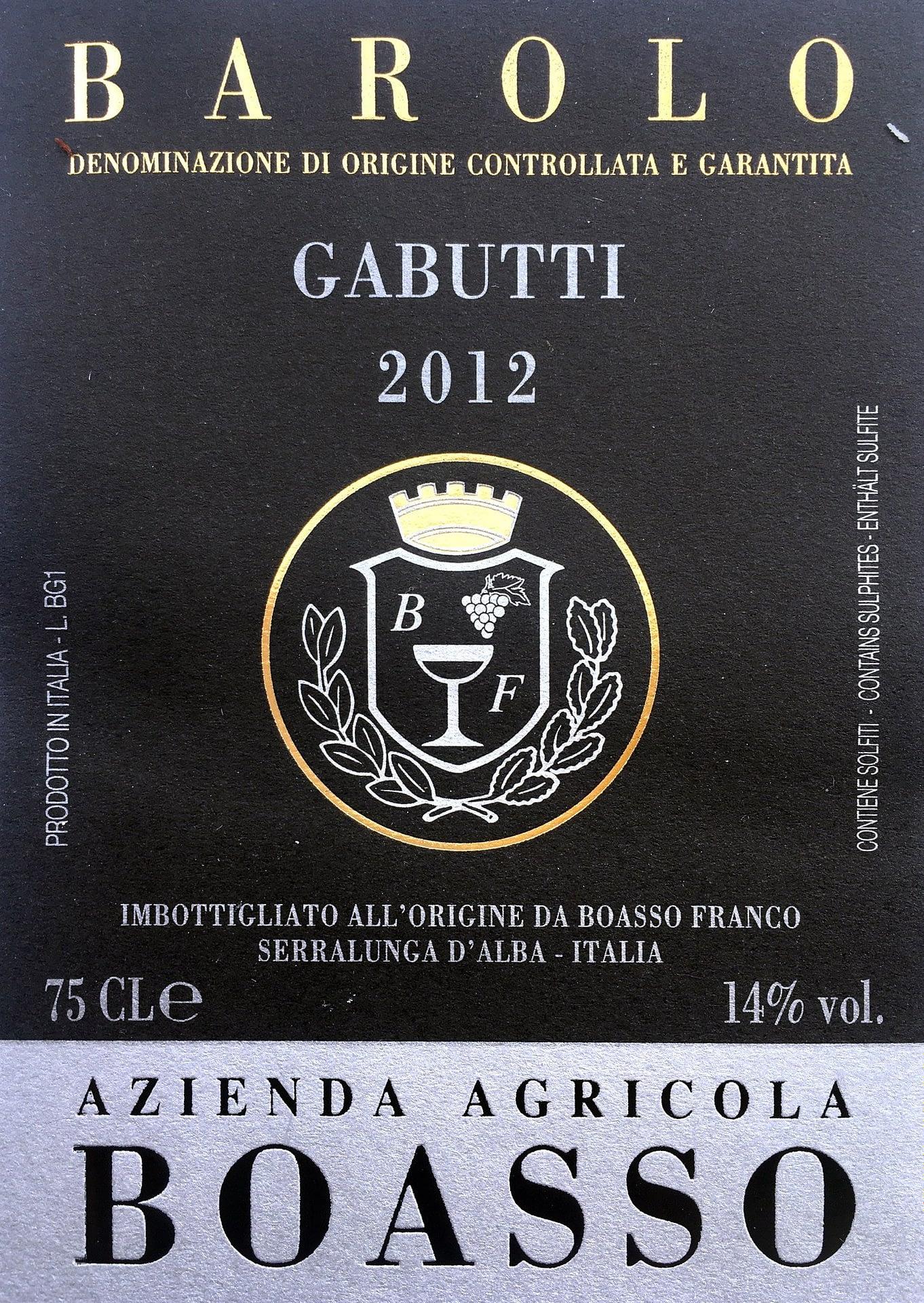Boasso Barolo Gabutti 2012
