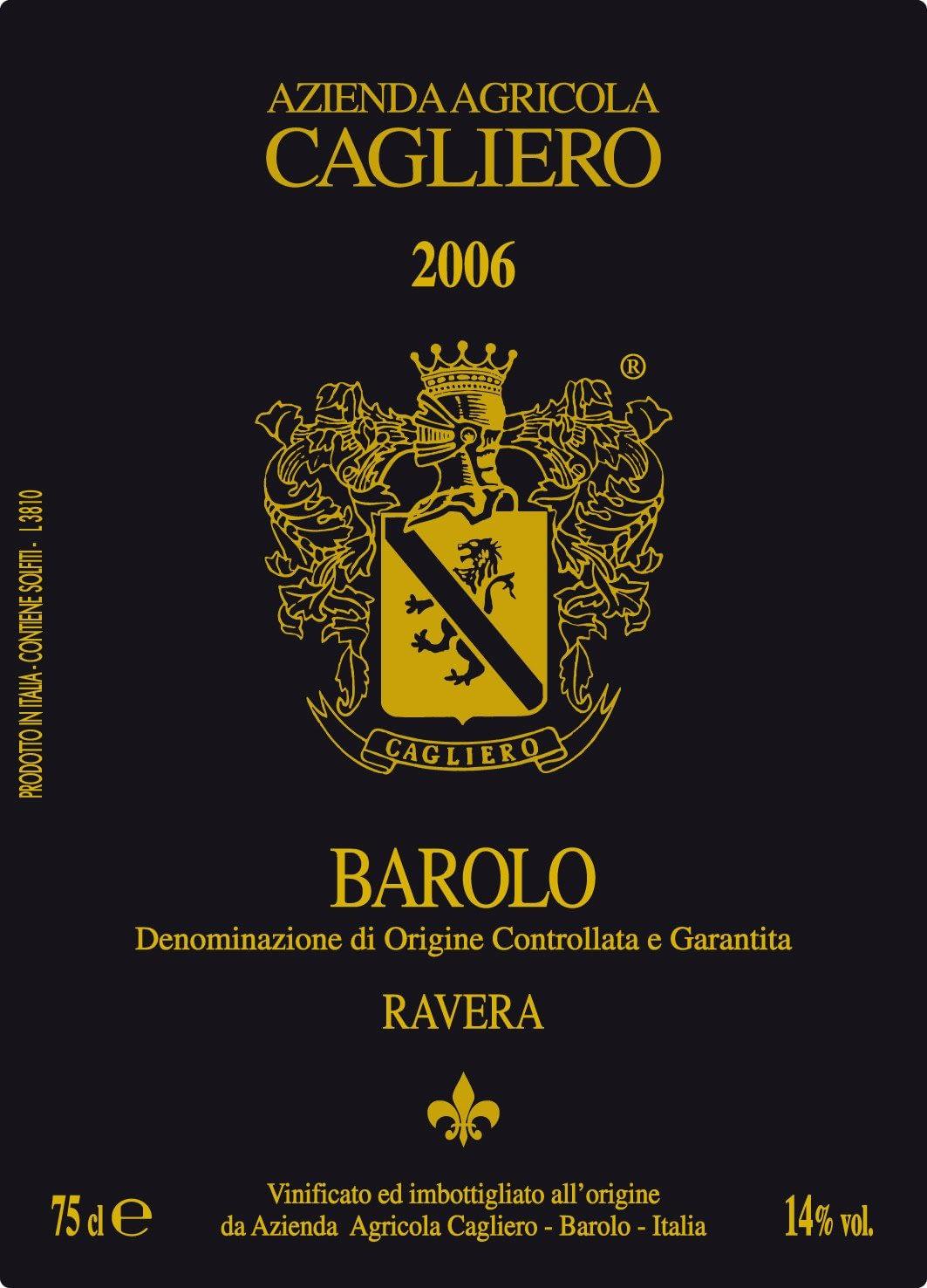 Cagliero Barolo Ravera 2006