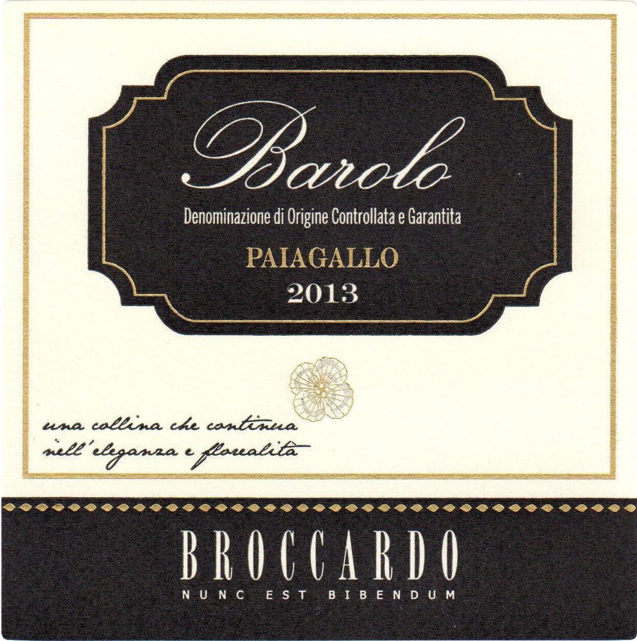Broccardo Barolo Paiagallo Magnum 2012