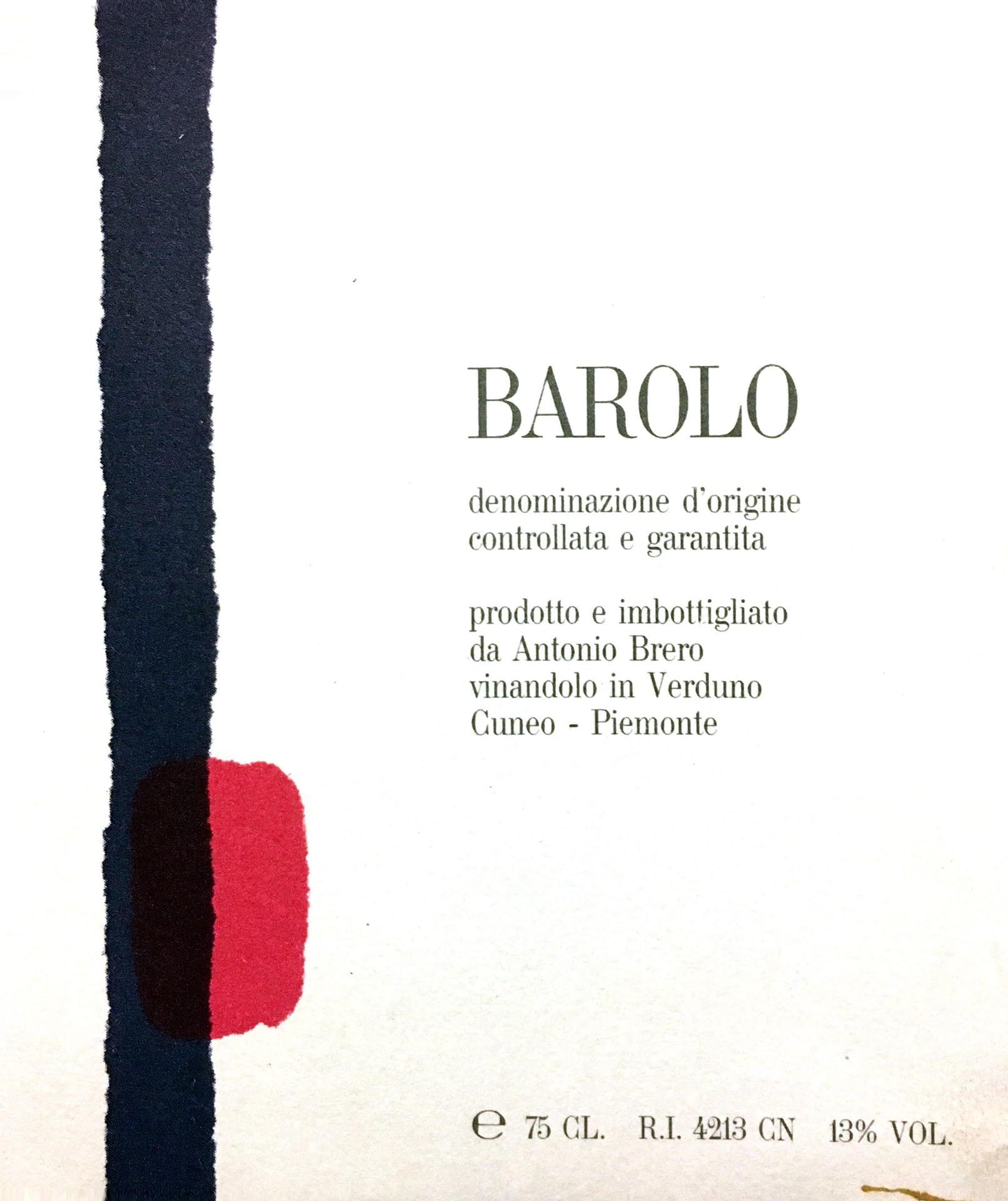 Antonio Brero Barolo 2013