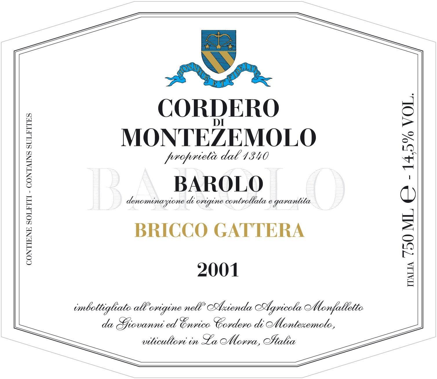 Cordero Barolo Bricco Gattera Jeroboam 2016