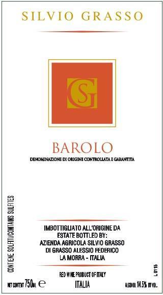 Silvio Grasso Barolo 2010