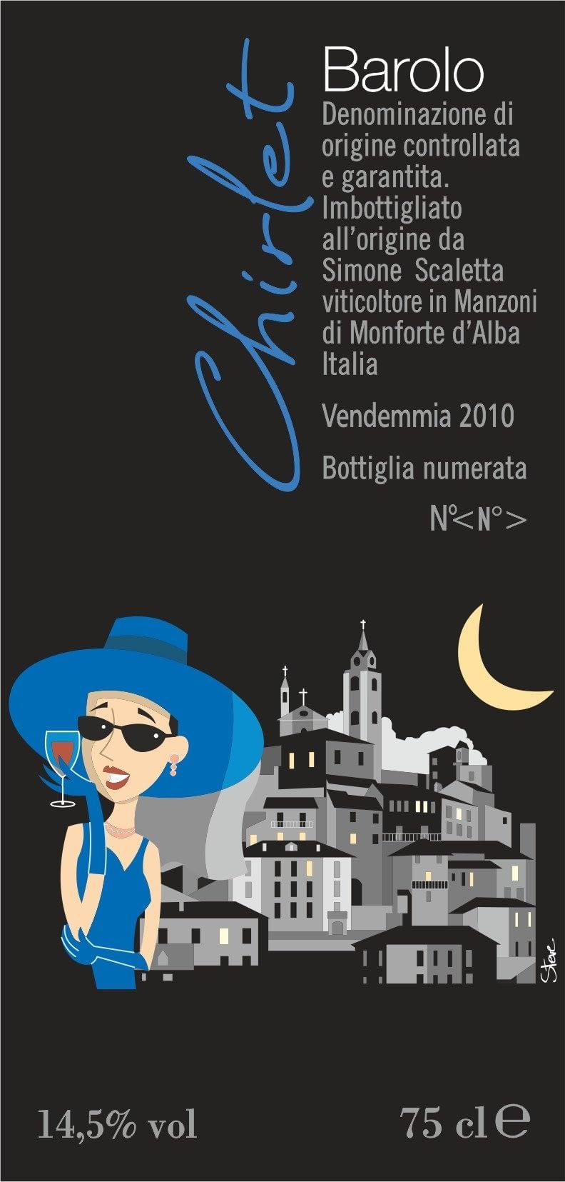 Scaletta Barolo Chirlet 2012