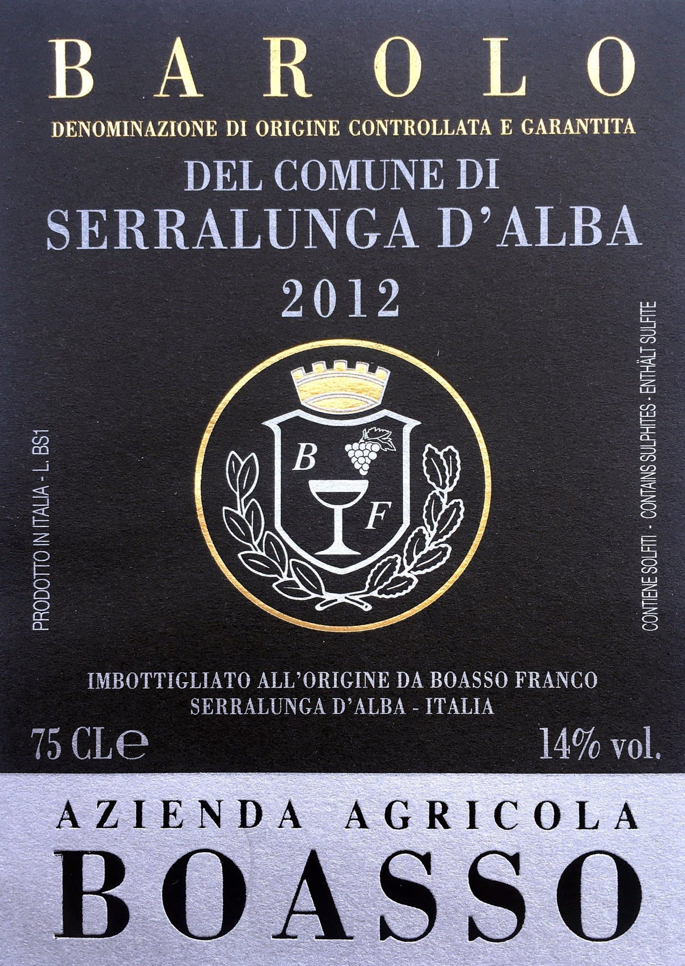 Boasso Barolo Serralunga 2012