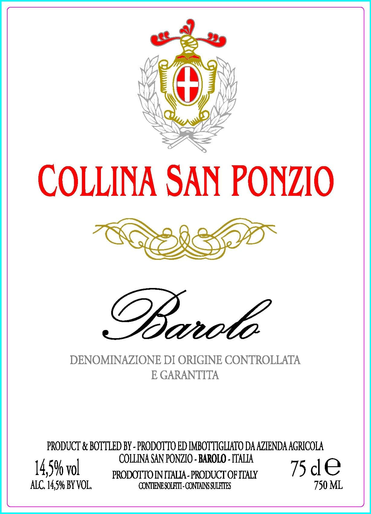 Collina of San Ponzio Barolo 2011