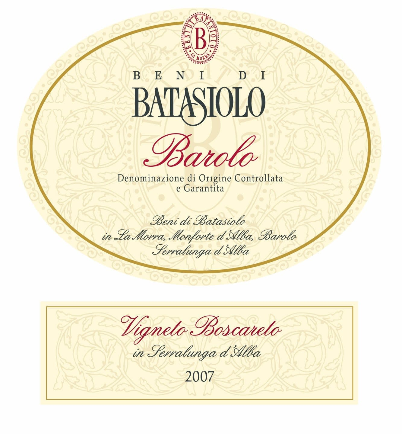 Batasiolo Barolo Boscareto 2007