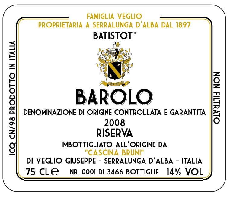 Bruni Barolo Riserva Batistot 2008