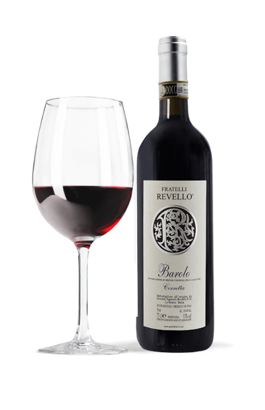 wine bottle and glass barolo red wine