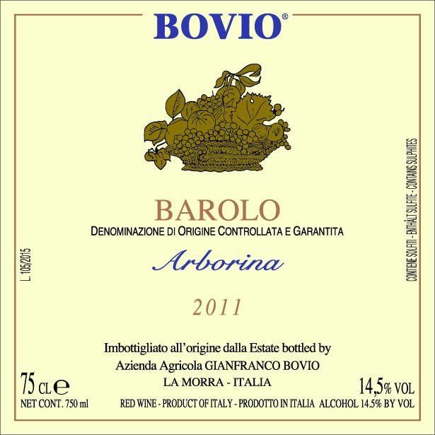 Bovio Barolo Arborina 2009