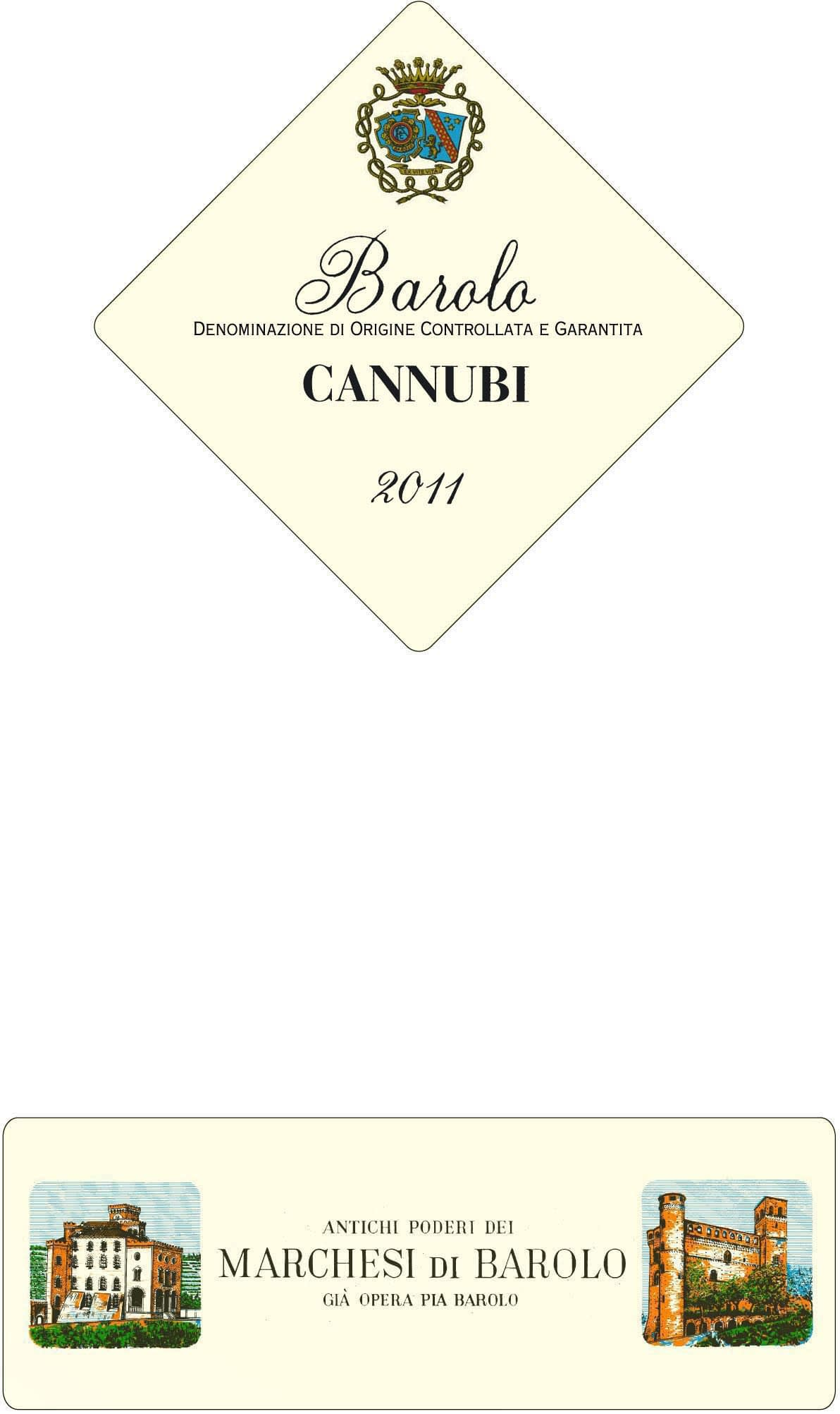 Marchesi di Barolo Cannubi 2011 - only 1 bottle left!