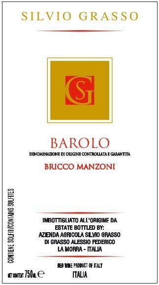Silvio Grasso Barolo Bricco Manzoni 2010