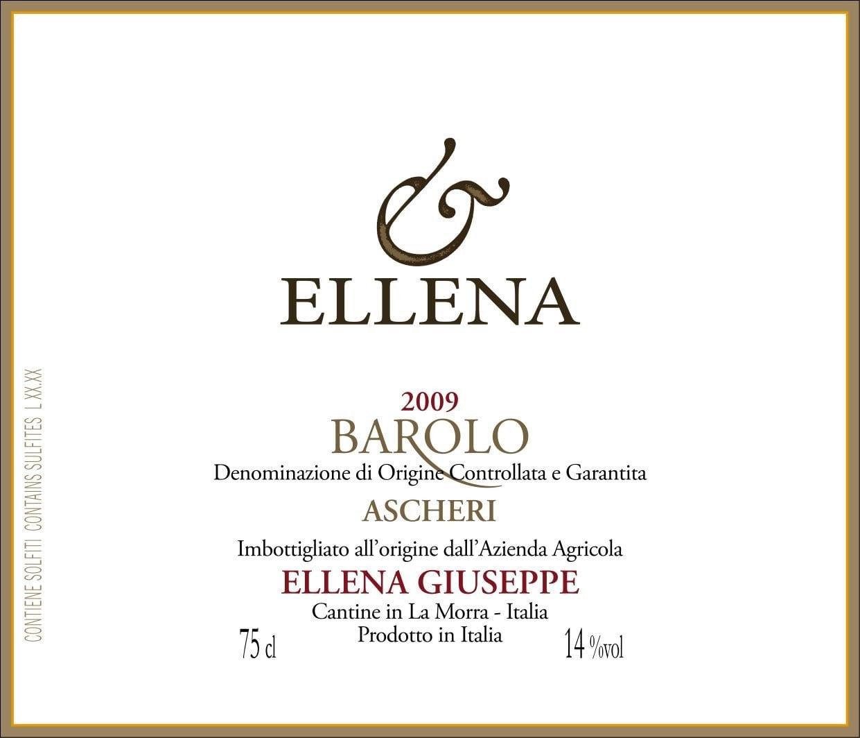 Ellena Barolo Ascheri Riserva Magnum 2009